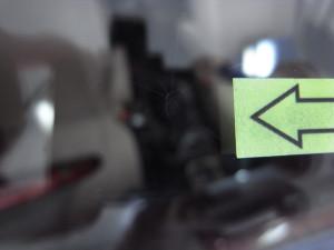 トヨタグランビア フロントガラス修理