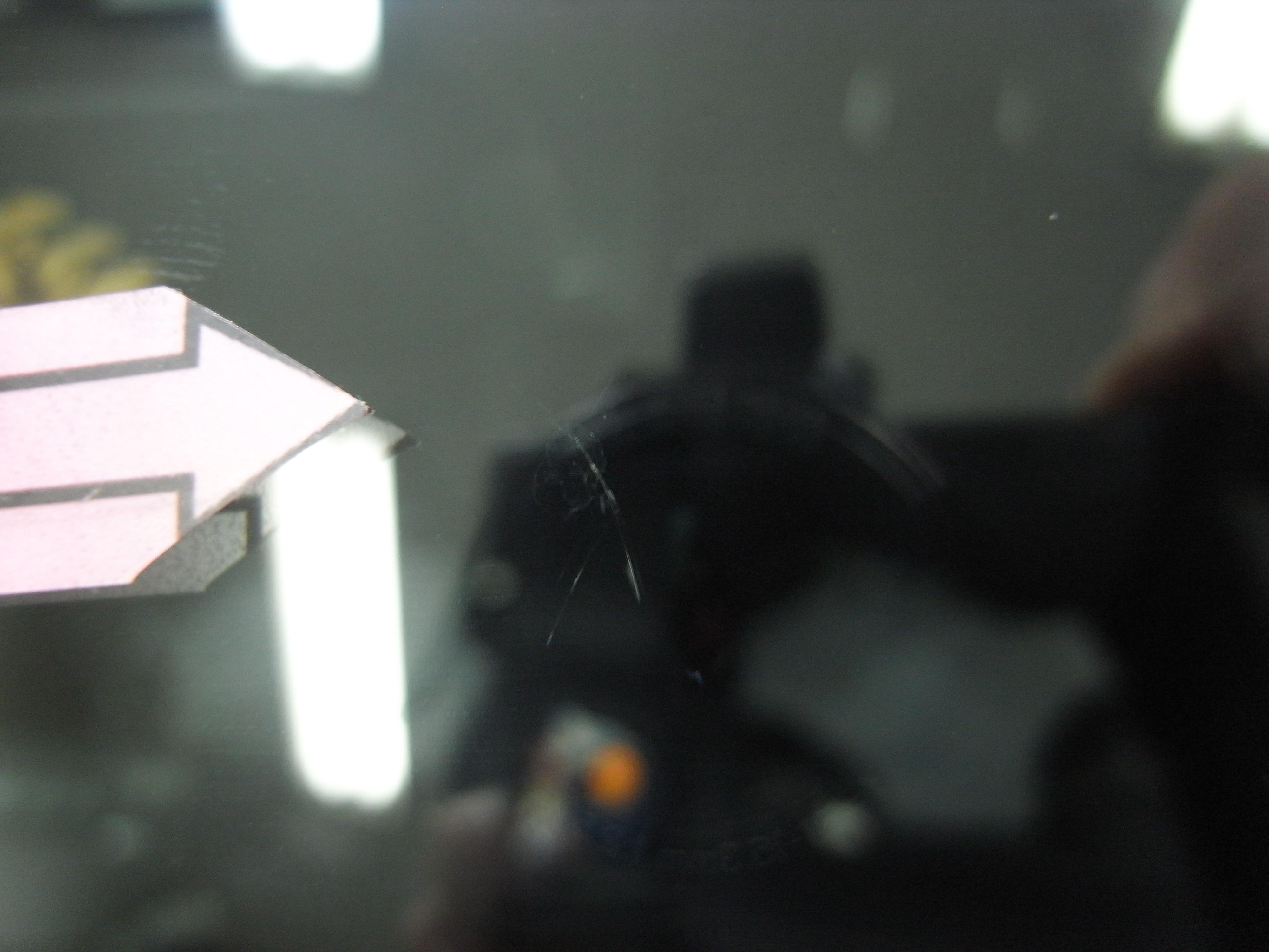 ホンダスパイク フロントガラスリペア