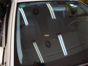 メルセデスベンツE350 フロントガラス修理