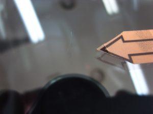 メルセデスベンツE350 フロントガラスリペア