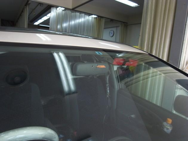トヨタエスティマ フロントガラス修理