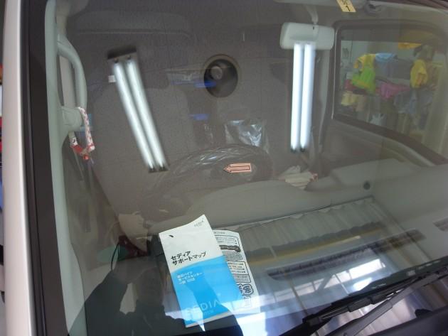 スズキエブリィ フロントガラス修理