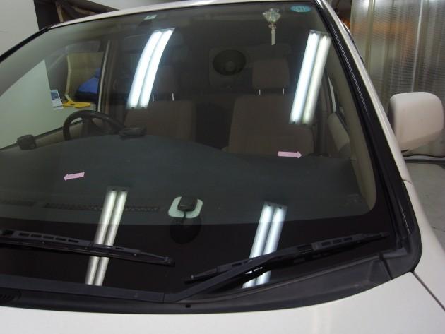 自動車ガラス 飛び石傷 修理