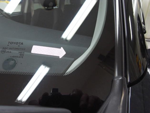 車 フロントガラス ヒビ 修理