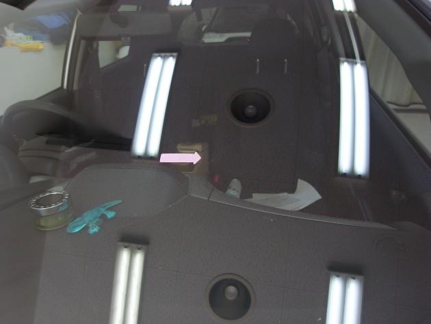 自動車ガラス 飛び石傷 リペア