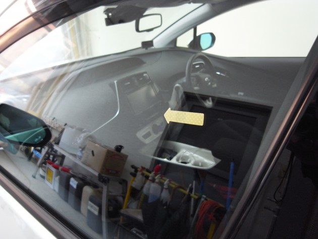 ドアガラス 飛び石傷 補修