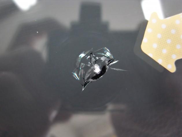 飛び石傷 フロントガラス修理