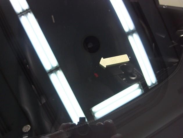 メルセデスベンツS550 飛び石傷 フロントガラス補修