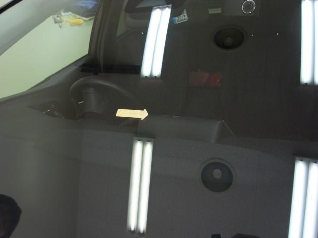 トヨタプリウス 飛び石 フロントガラス補修