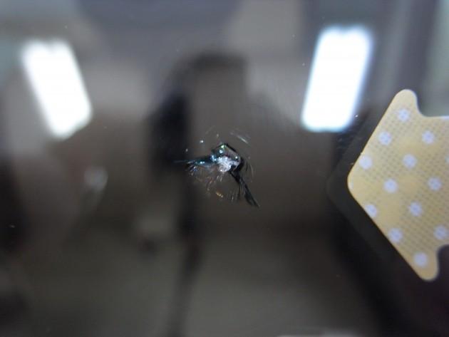 スズキエブリィワゴン 飛び石 フロントガラス修理
