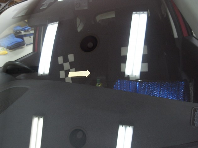 飛び石 フロントガラス補修