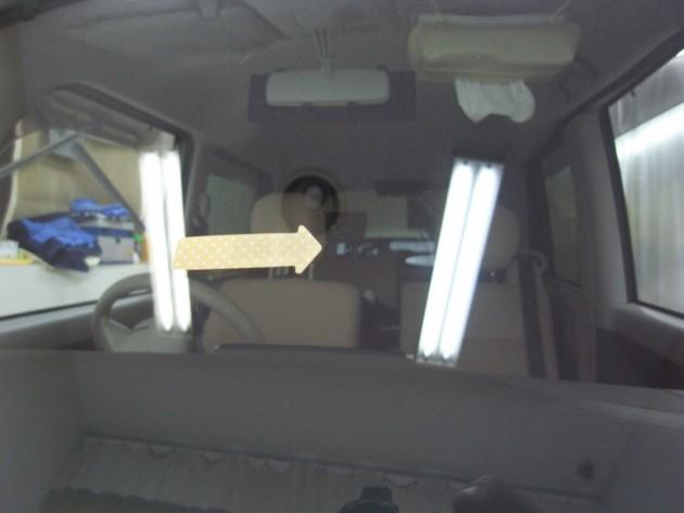 自動車ガラス 飛び石 ヒビ 補修