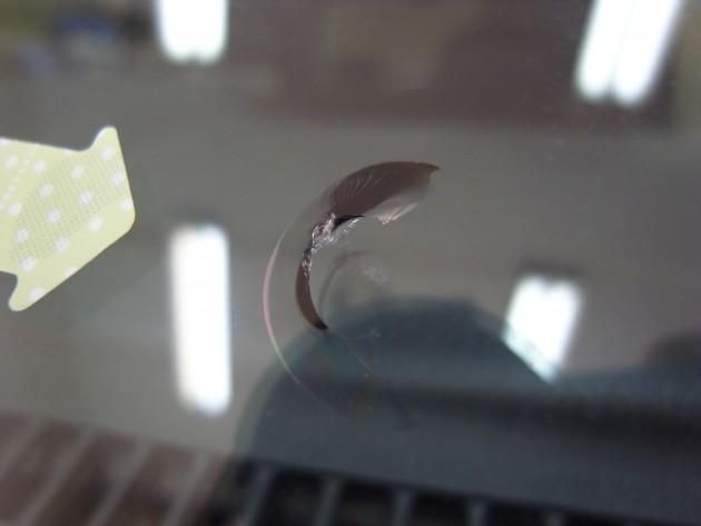 フロント ガラス 飛び石 修理