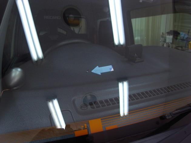 フロント ガラス 修理